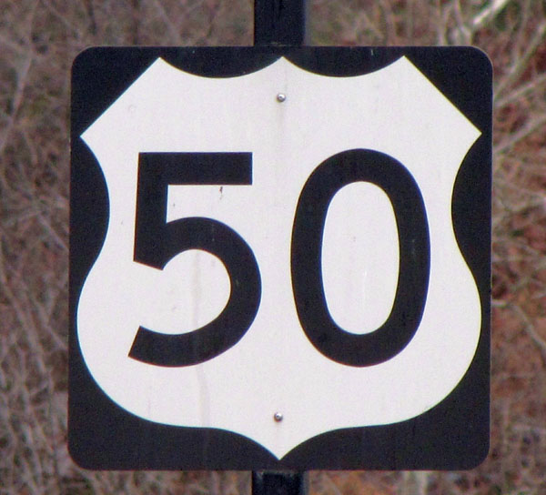 US 50 sign