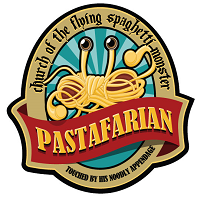 Church of the Flying Spaghetti Monster, Pastafarian. Touched by His Noodly Appendage.