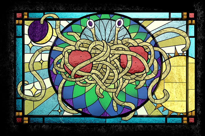 FSM in stained glass by Sarah Pierce